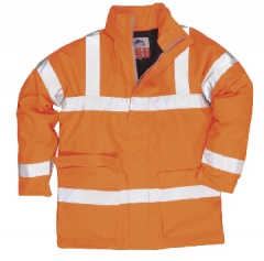 Bizflame Rain Hi-Vis Breathable Antistatic FR Jacket