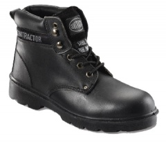 Black 6 Eyelet Boot with Steel Midsole