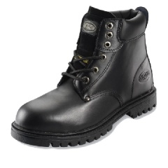 Black Boot with Rubber Nitrile Sole