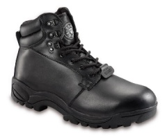 Black Leather Safety Chukka Boot with Steel Midsole
