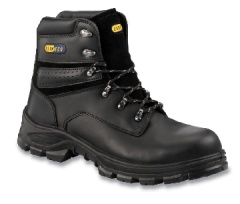 Black Padded Boot with Non-Metal Toecap and Midsole
