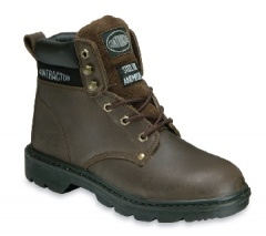 Brown 6 Eyelet Boot with Steel Midsole