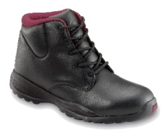Black Boot with Steel Midsole