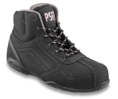 Black Boot with  with Non-Metal Toecap and Midsole