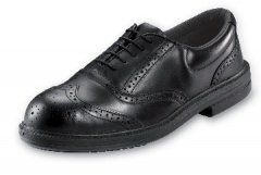 Black Brogue Shoe Steel Midsole