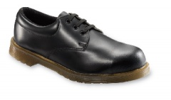 Black Cushion Sole Tie Shoe